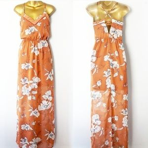 Sienna sky floral maxi dress size small